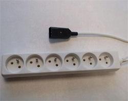 Prodlužovací kabel s EURO kon. do UPS 2m 6 zásuvek