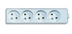 Vícenásobná rozebíratelná 4 zásuvka na kabel 230V