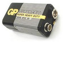 Baterie GP Greencell 6F22 9V 1ks ZnC
