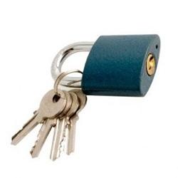 Magg 32138 Visací zámek 38mm modrý litinový