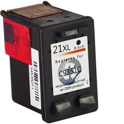 HP C9351C - kompatibilní HP21XL cartridge černá