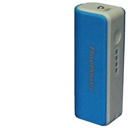 Power Bank 011, 2600mAh Bílo-modrá + LED svítilna