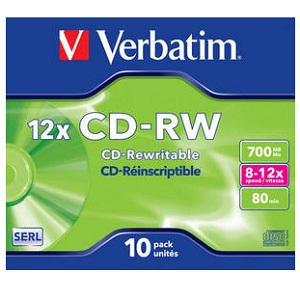 Verbatim CD-RW 80  12x BOX 700MB