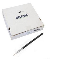 Belden H125 CU PE černý 6,8mm/1m Koaxiální kabel